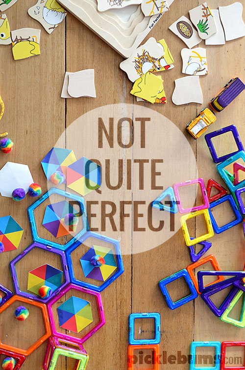 How being not quite perfect makes you a good parent.