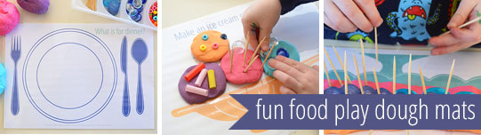 free printable play dough mats - fun food
