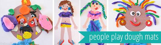 free printable playdough mats - people