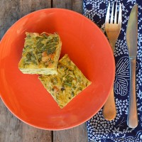 Spinach and Potatoe slice - an easy crustl-ess quiche recipe