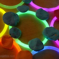 Glow Stick Play Dough - when you need a quick activity to make your child smile