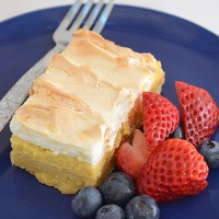 Eeasy Lemon Meringue Slice recipe