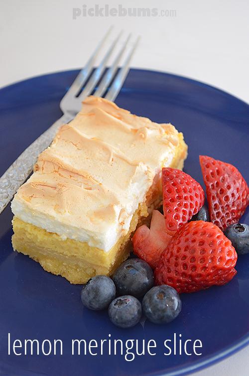 Eeasy Lemon Meringue Slice recipe