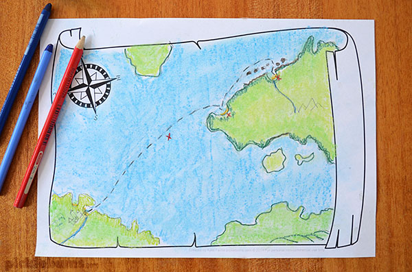 Treasure Map Craft For Kids