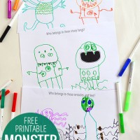 Free printable monster drawing prompts!
