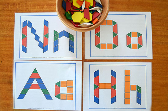Pattern blocks 20 ideas activities free printables a simple invitation to play with pattern blocks find lots of ideas activities and spiritdancerdesigns Image collections