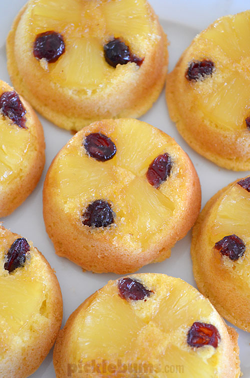 Pineapple Upside-down Cupcakes - an easy family recipe