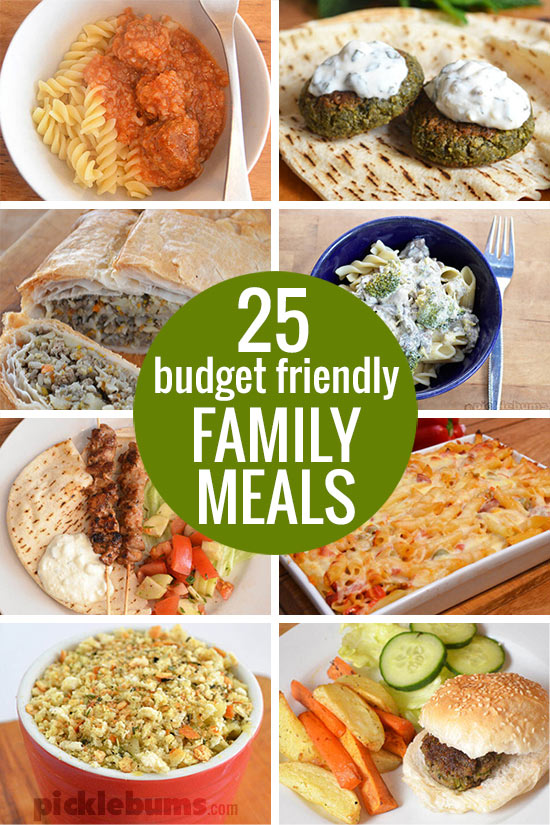25 Budget Friendly Family meals... to help keep your food budget in check