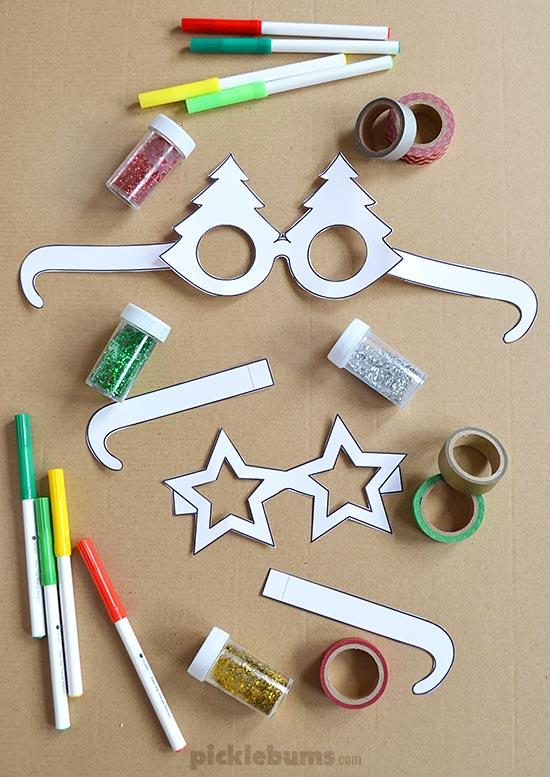 Free Printable: Christmas Glasses!