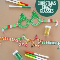 Free Printable: Christmas Glasses! Have fun making these free printable glasses and get in the Christmas spirit!