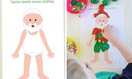 Free Printable Christmas Play Dough Mats - Santa Needs some Clothes