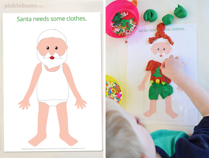 Free Printable Christmas Play Dough Mats - Picklebums