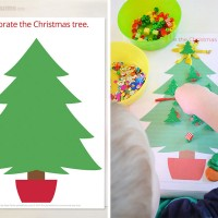Free Printable Christmas Play Dough Mats - Decorate the Christmas Tree