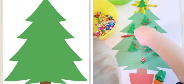 Free Printable Christmas Play Dough Mats - Decorate the Christmas Tree