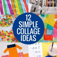 12 Simple Collage ideas to get you gluing and sticking with your kids!