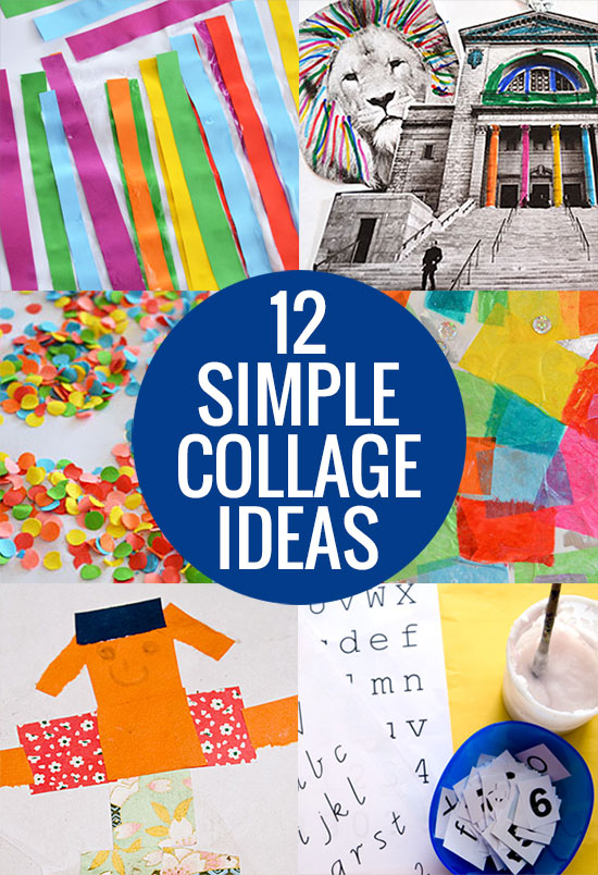 collage craft ideas 12 simple collage ideas picklebums 1337