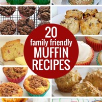 20 Family Friendly Muffin Recipes.