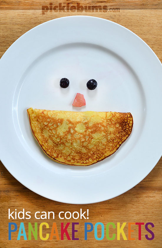 Pancake Pockets -   a fun and easy recipes the kids can make!