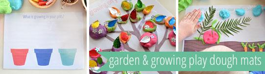 Free printable garden playdough mats