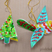 Free Printable Christmas Decorations: Dove and Tree