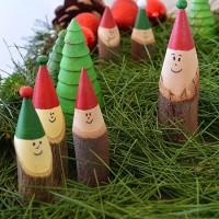 Set up a simple Christmas Imaginary play scene that even smells like Christmas!