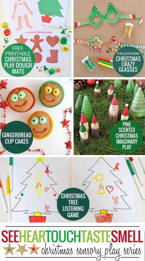 Christmas Sensory Play Series - lots of great festive ideas to engage all of the senses!