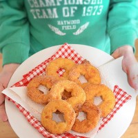 Cinnamon Sugar Apple Fritters