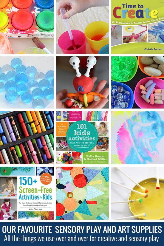 Our favourite sensory play and art supplies - find out what my kids and I use over and over and what is worth the money.