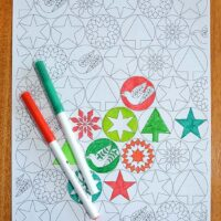 Colour Your Own Free Printable Christmas Wrapping Paper
