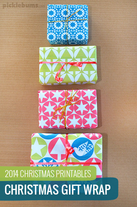 Free Printable Christmas Gift Wrap!