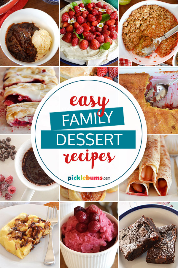 Easy family dessert recipes