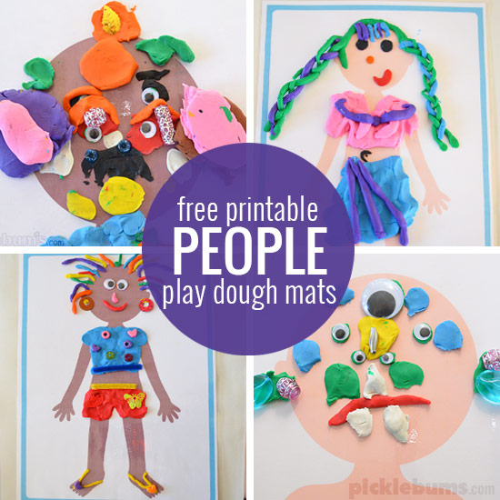 Free printable play dough mats - print all of our play dough mats for loads of play dough fun!