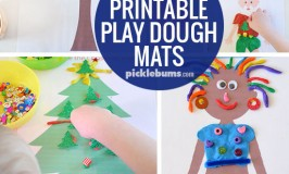 Fabulous Free Printable Play Dough Mats