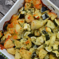 Easy cheesy potato and zucchini bake - a quick and easy, family-friendly, side dis