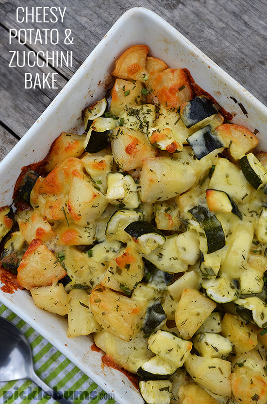 Easy cheesy potato and zucchini bake - a quick and easy, family ...
