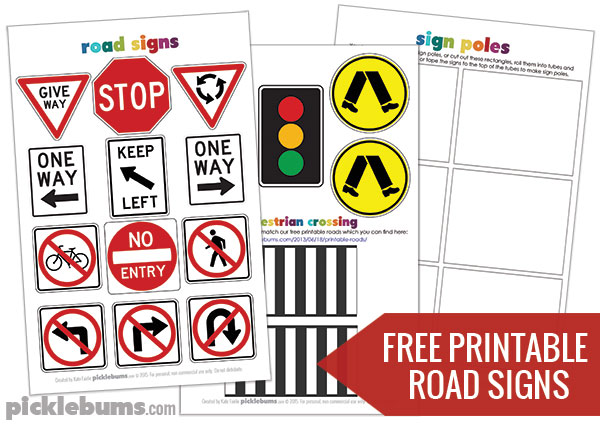 Nifty image intended for free printable road signs