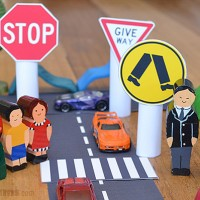 Five Ways Parents Can Help Teach Kids abut Road Safety - plus free printable road signs!