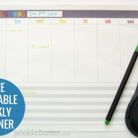 Get organised in 2015 with this free printable weekly planner