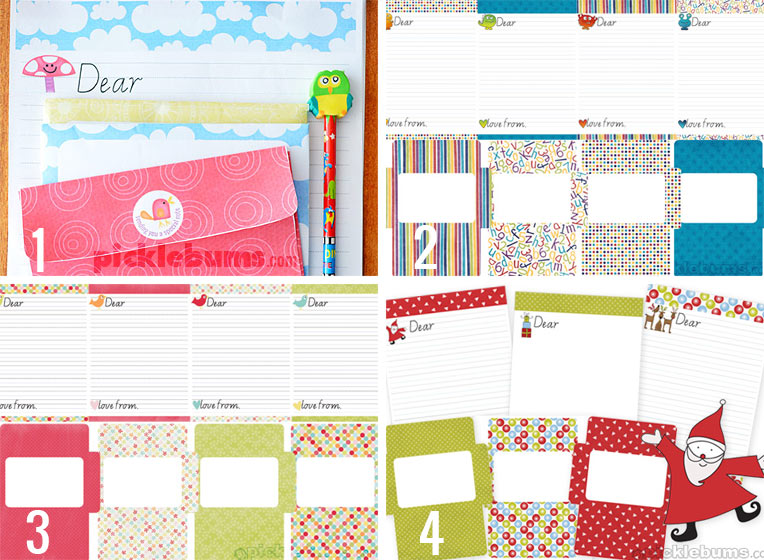Free Printable Kids Letter Writing Sets