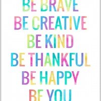 Be You - Free printable poster
