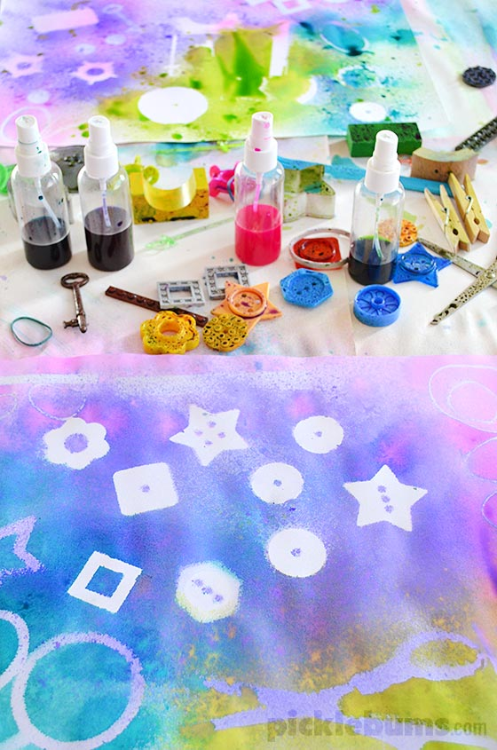 Stencil Spray Art! We collected a bunch of crazy items to make art!
