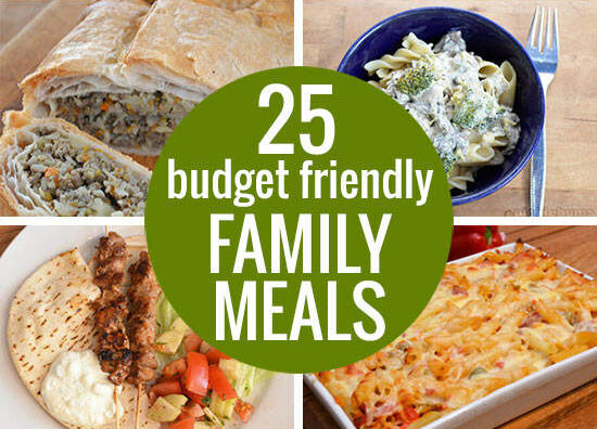 25 Budget Friendly Family Meals - lots of ideas to help you put food on the table