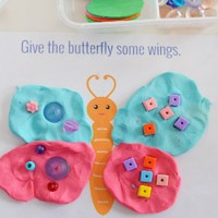 Beautiful Bugs Playdough Mats – Free Printable.