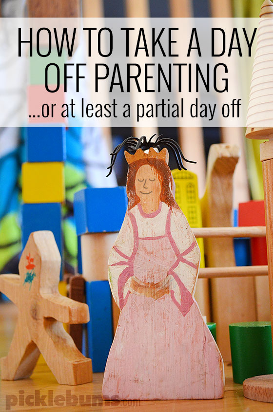 Take a day off parenting... well almost! Here are my top tips for going on strike and taking a partial day off!