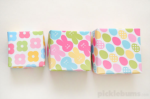 Print and fold easter gift boxes picklebums print and fold easter boxes free printable gift boxes perfect for little easter gifts negle Image collections