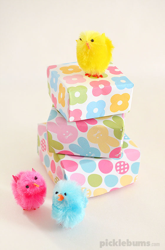 Print and fold easter gift boxes picklebums print and fold easter boxes free printable gift boxes perfect for little easter gifts negle Gallery