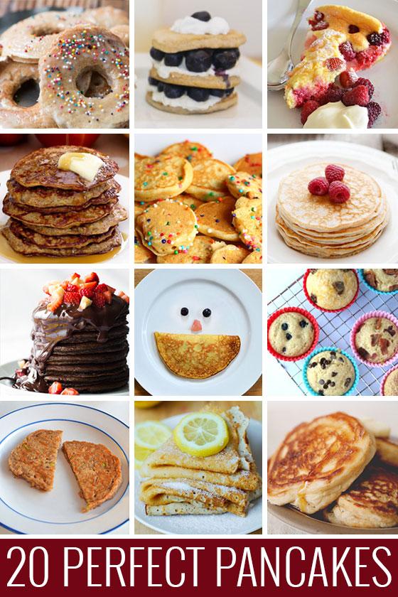 20 Perfect Pancake recipes - because pancakes will fix everything!