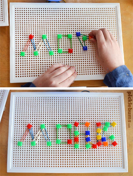 Make your super simple Geoboard!  Plus 20+ Geoboard ideas, activities and free printables so you'll never run out of geoboard ideas!