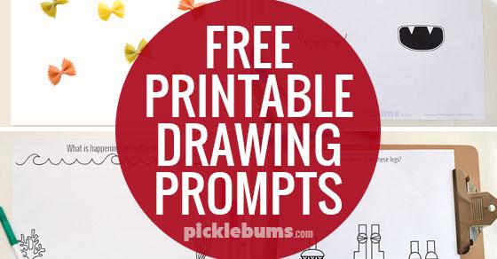 Free Printable Drawing prompts