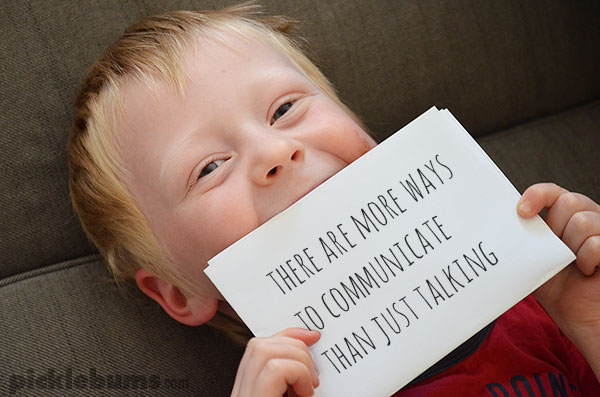 There are more ways to communicate with our kids than just talking.